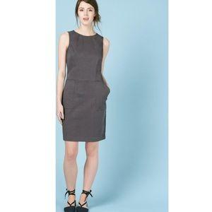 📚Boden Green-Grey Chino Sheath Dress